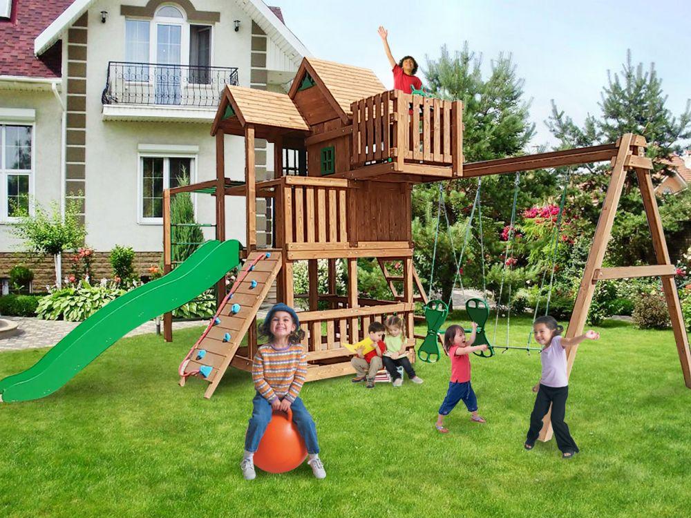 Горка домик для детей фото