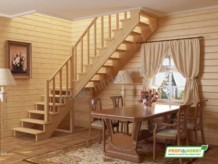 Угловые лестницы фото