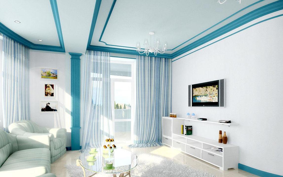 Голубая гостиная фото