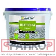 Шпатлевка акриловая универсальная Лакра для внутренних и наружных работ 1,5кг Россия