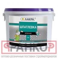 Шпатлевка латексная Лакра для внутренних работ 1,5кг Россия