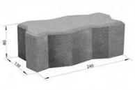 брусчатка серая волна  ЭДД-2.8 24013080